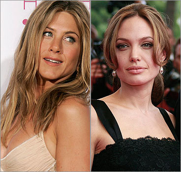 Jennifer Aniston versus Angelina JolieJennifer Aniston Brad Pitt Angelina Jolie