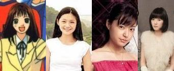 Barbie Hsu, Mao Inoue, and Koo Hye Sun as Makino Tsukushi